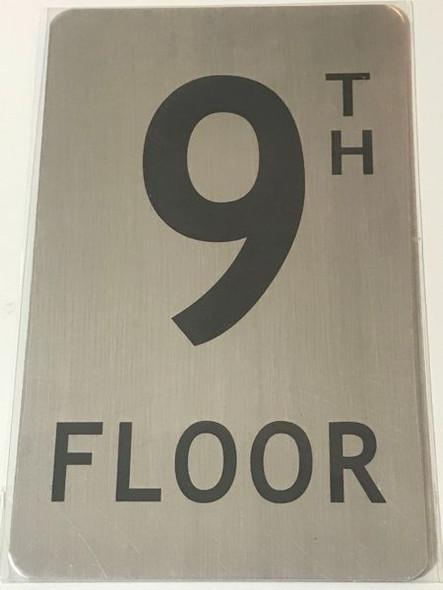 FLOOR NUMBER Signage - 9TH FLOOR Signage