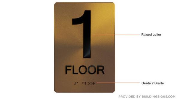 ADA GOLD SIGN- 1ST FLOOR