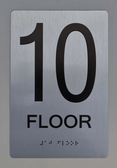 10th FLOOR  Braille sign -Tactile Signs  The sensation line   Braille sign