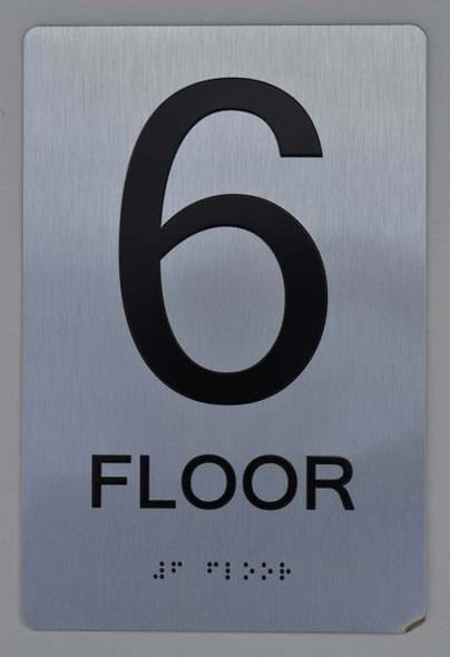 6th FLOOR  Braille sign -Tactile Signs  The sensation line   Braille sign