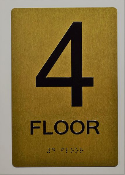 4th FLOOR SIGN