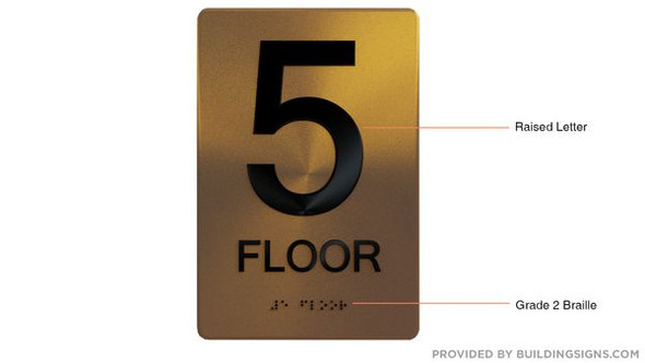 5th FLOOR Sign -Tactile Signs Tactile Signs   Braille sign