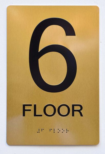 6th FLOOR SIGN