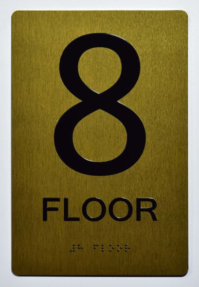 8th FLOOR SIGN for Building