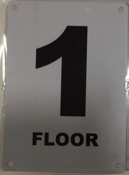 FLOOR NUMBER ONE (1) Signage ALUMINUM