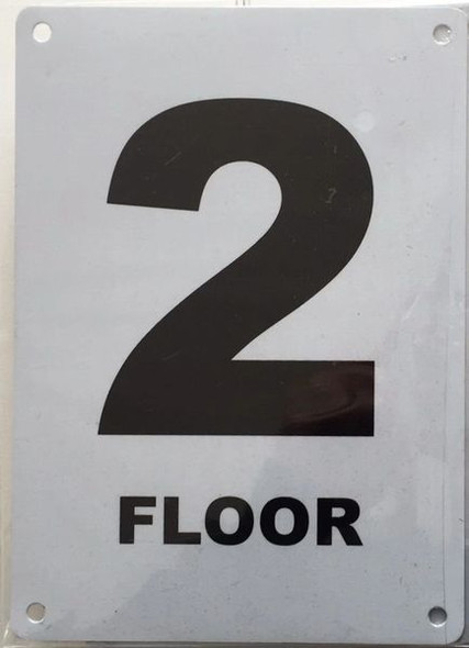 FLOOR NUMBER TWO (2) Signage ALUMINUM (HMC § 27-2049)
