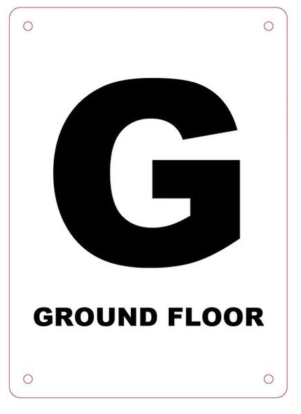 FLOOR NUMBER GROUND (G) SIGN