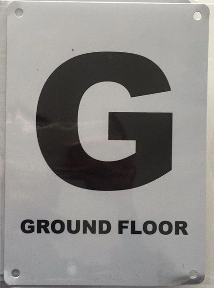 FLOOR NUMBER GROUND (G) SIGN for Building