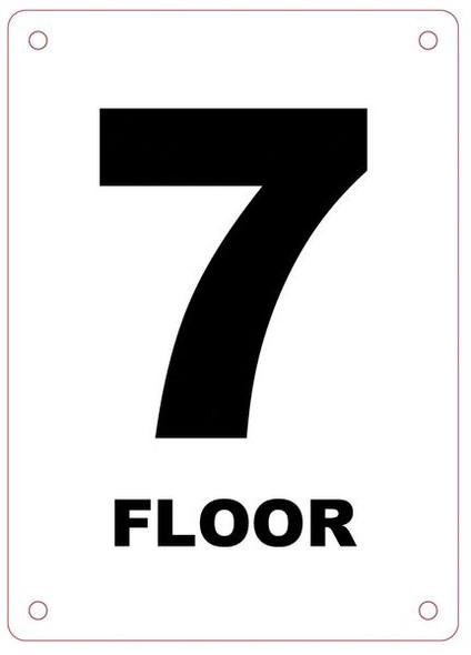 FLOOR NUMBER SEVEN (7) SIGN