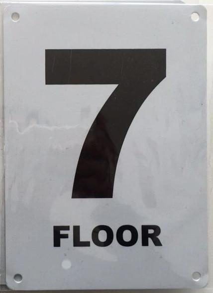 FLOOR NUMBER SEVEN (7) SIGN for Building