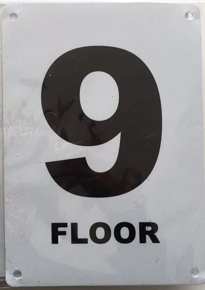 FLOOR NUMBER NINE (9) SIGN for Building