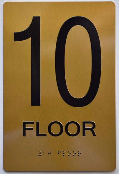 10th FLOOR Sign -Tactile Signs Tactile Signs  Braille sign