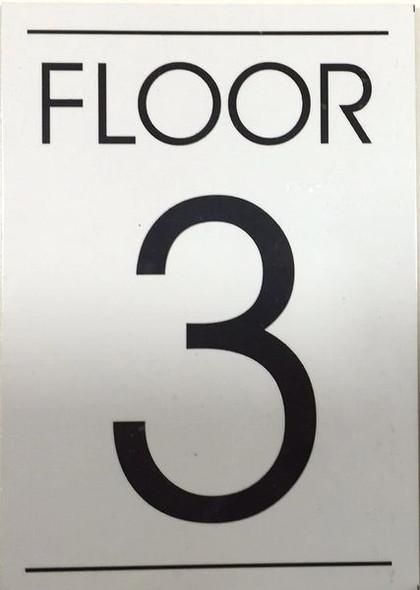 FLOOR NUMBER THREE (3) SIGN