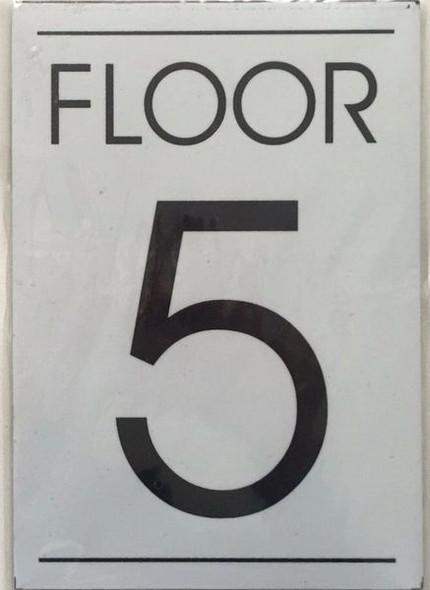 FLOOR NUMBER FIVE (5) SIGN for Building