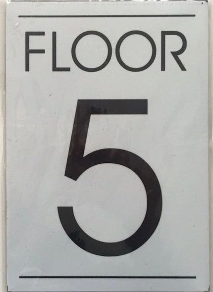 FLOOR NUMBER FIVE (5) Signage