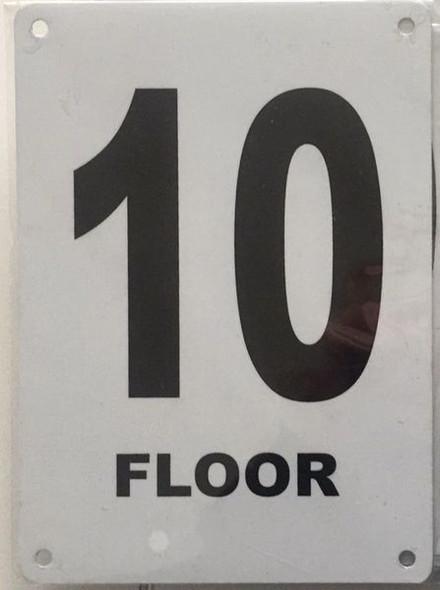 FLOOR NUMBER TEN (10) SIGN for Building