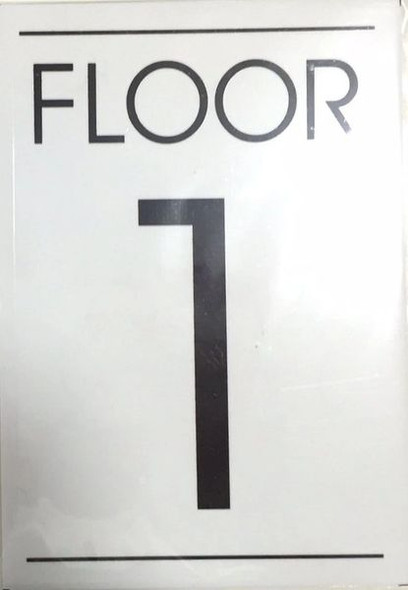 FLOOR NUMBER ONE (1) Sign