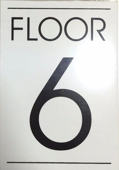 FLOOR NUMBER SIX (6) Sign