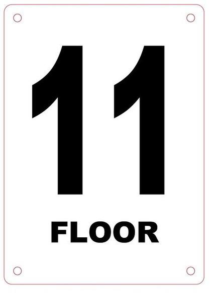 FLOOR NUMBER ELEVEN (11) SIGN
