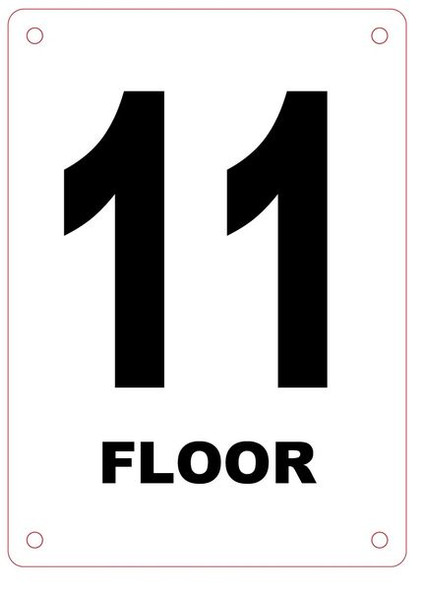 FLOOR NUMBER ELEVEN (11) Sign