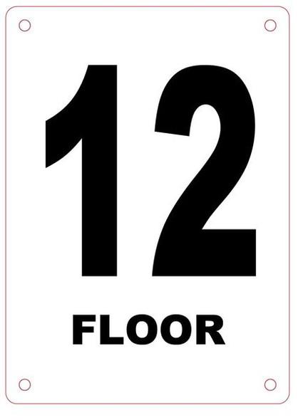FLOOR NUMBER TWELVE (12) SIGN