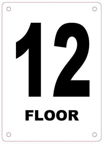 FLOOR NUMBER TWELVE (12) Sign