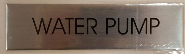 WATER PUMP SIGNAGE - BRUSHED ALUMINUM