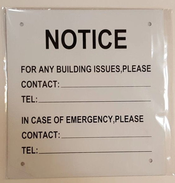 NOTICE OF BUILDING ISSUES SIGN