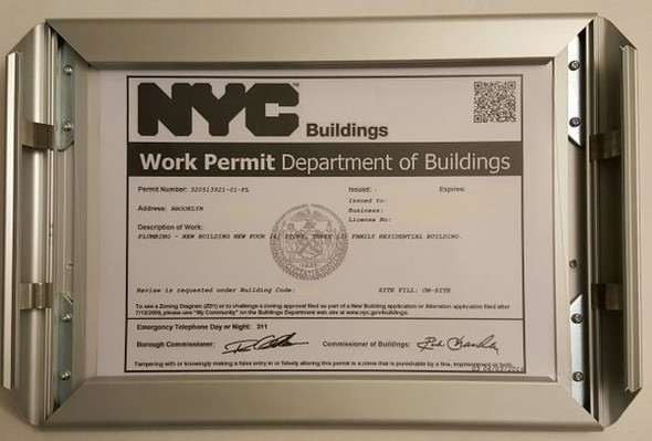 DOB PERMIT FRAME for Building