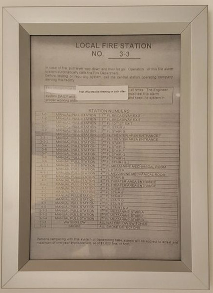 Local fire station frame for Building