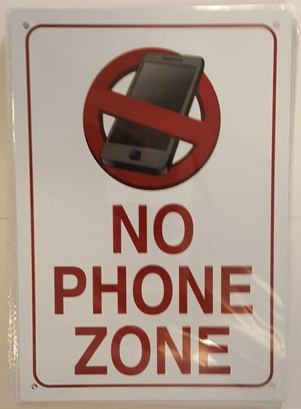 NO PHONE ZONE SIGN for Building