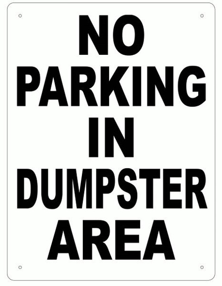 NO PARKING SIGN (ALUMINUM SIGNS 1) WHITE
