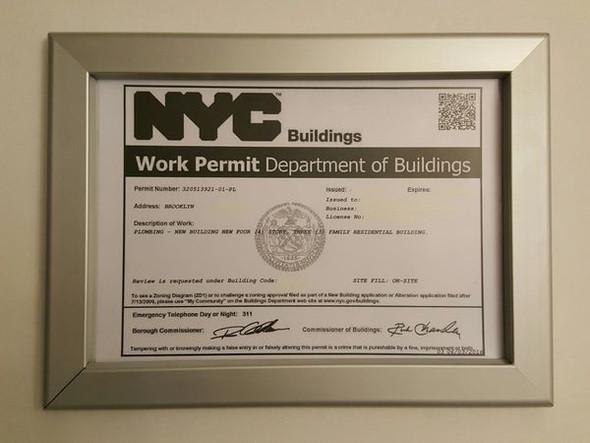 DOB Permit Frame -Heavy duty (PERMIT FRAMES A4)Building Frame