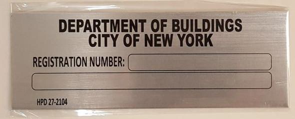 HPD BUILDING REGISTRATION NUMBER for Building