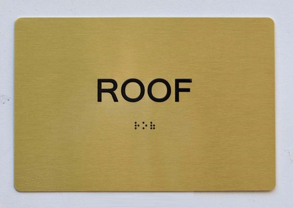 ROOF Sign -Tactile Signs  Braille sign