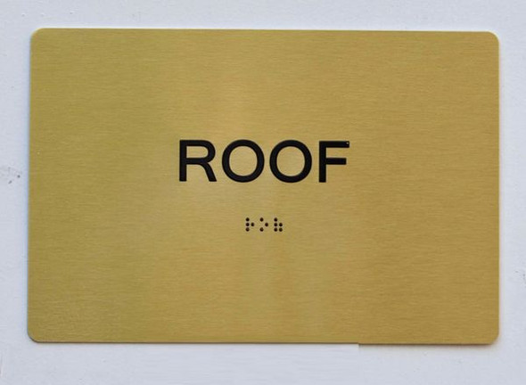 ROOF Sign -Tactile Signs Ada sign