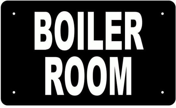 BOILER ROOM SIGN BLACK