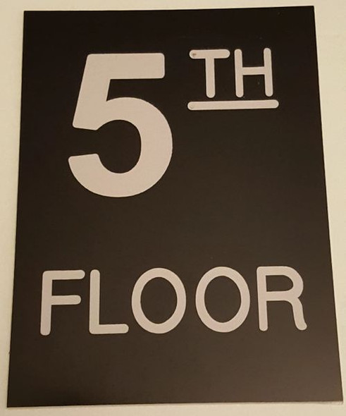 Floor number Five (5) sign for Building