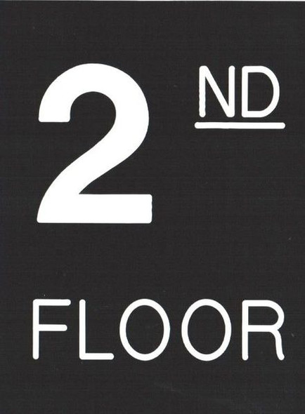 Floor number two (2) Sign Engraved Plastic (FLOOR Sign.)