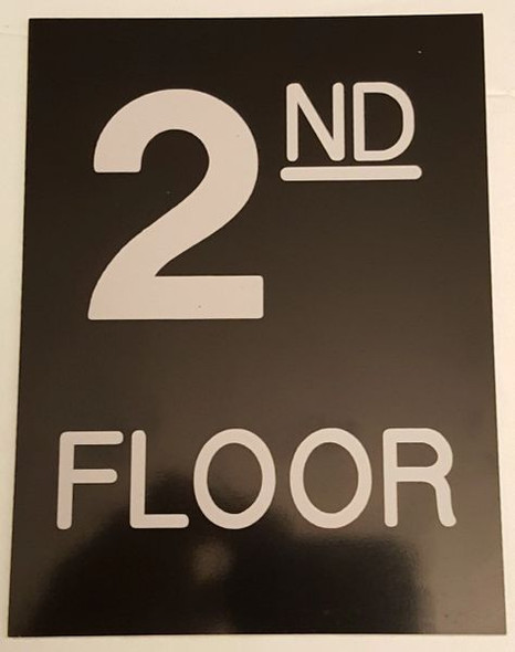 Floor number two (2) Signage Engraved Plastic (FLOOR Signage.)