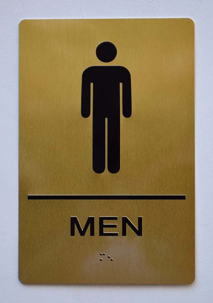 MEN RESTROOM Sign -Tactile Signs Tactile Signs  BRAILLE-  (ALUMINUM SIGNS) Ada sign