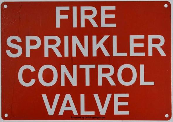 FIRE SPRINKLER CONTROL VALVE SIGN for Building