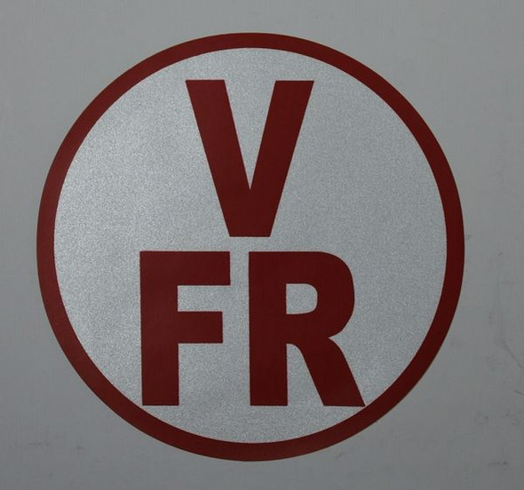 FLOOR AND ROOF TRUSS IDENTIFICATION SIGNAGE-TYPE V (STICKER, CIRCLE )
