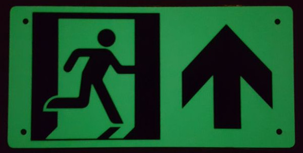 PHOTOLUMINESCENT EXIT SIGN for Building