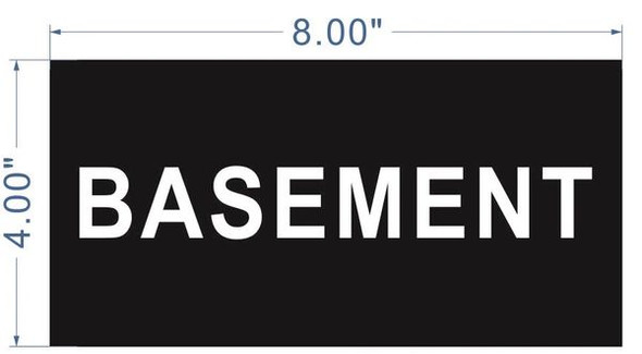 Floor number Basement sign for Building