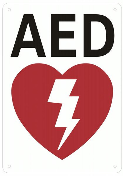 AED SIGN- AUTOMATED EXTERNAL DEFIBRILLATOR INSIDE SIGN