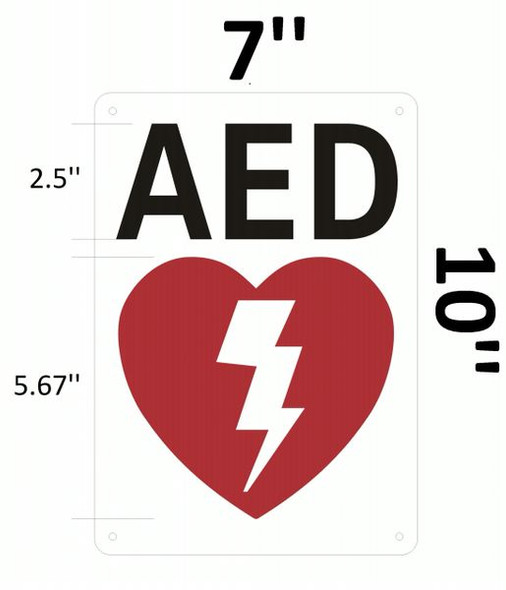 AED SIGNAGE- AUTOMATED EXTERNAL DEFIBRILLATOR INSIDE SIGNAGE