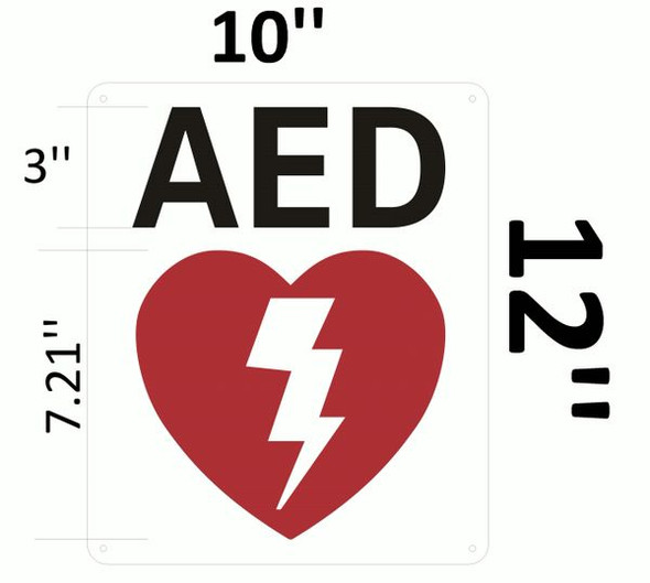 AED SIGNAGE- AUTOMATED EXTERNAL DEFIBRILLATOR SIGNAGE