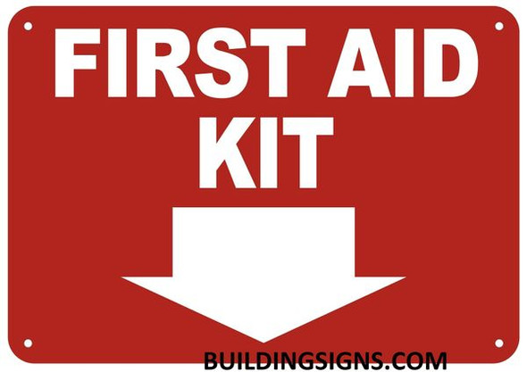 FIRST AID KIT SIGN- Reflective !!!