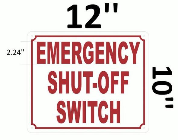 EMERGENCY SHUT-OFF SWITCH White